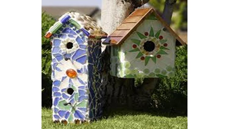 Sea Glass Bird House Craft Class