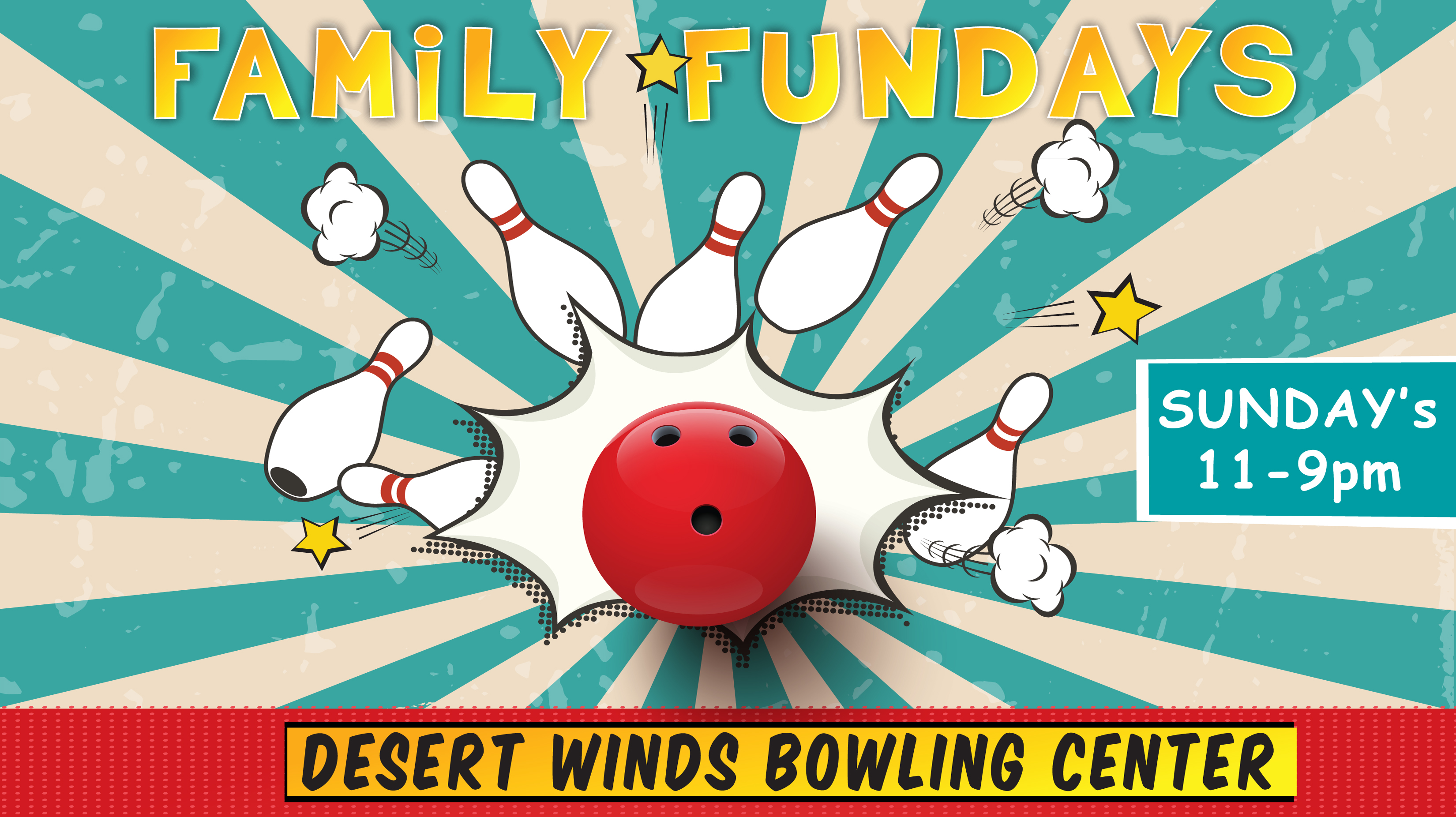 Family Fundays at Desert Winds Bowling