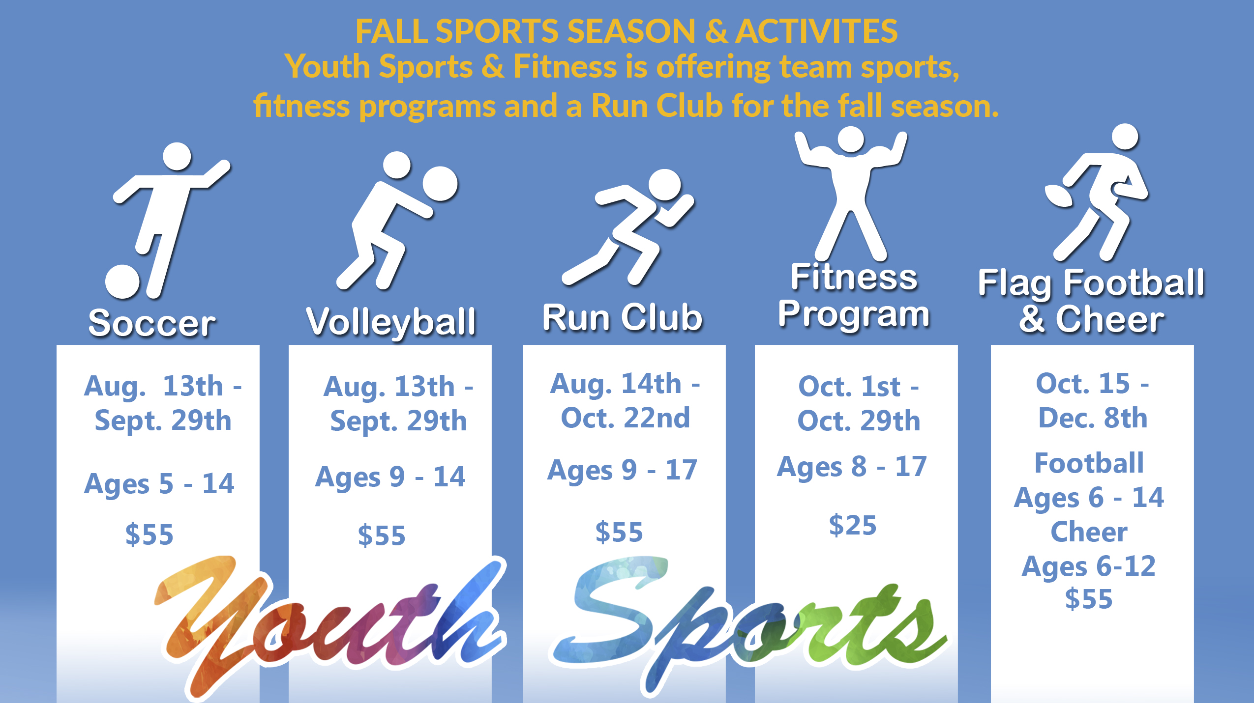Youth Sports Fall Season Registration
