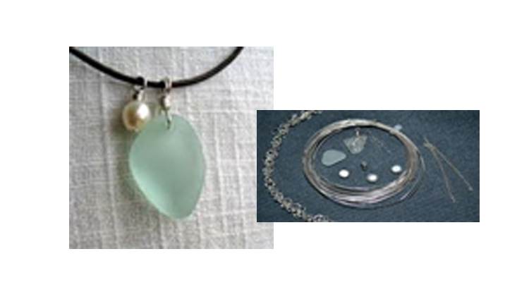 Craft Class - Sea Glass & Pearl Pendent