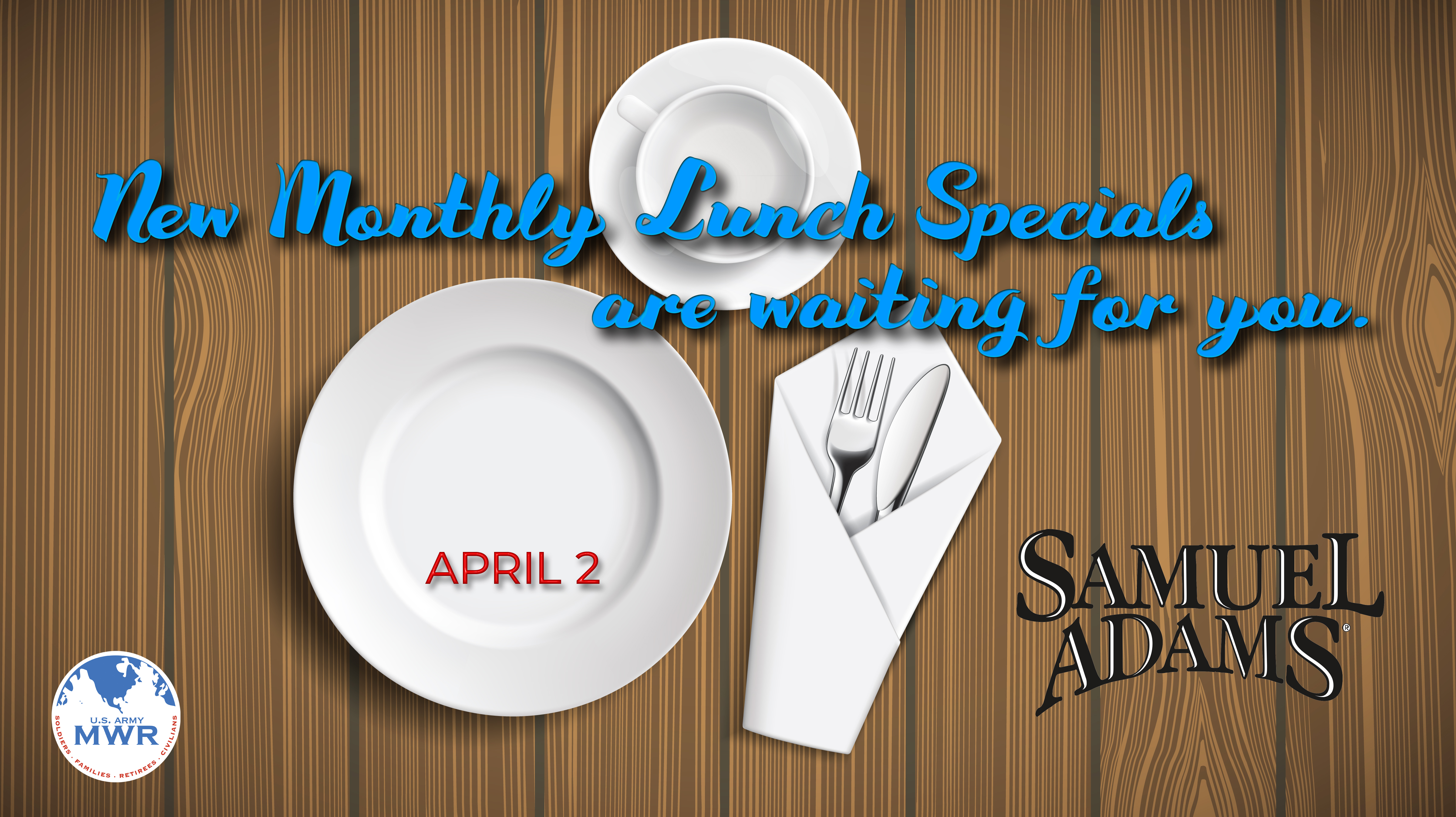 New Monthly Lunch Specials