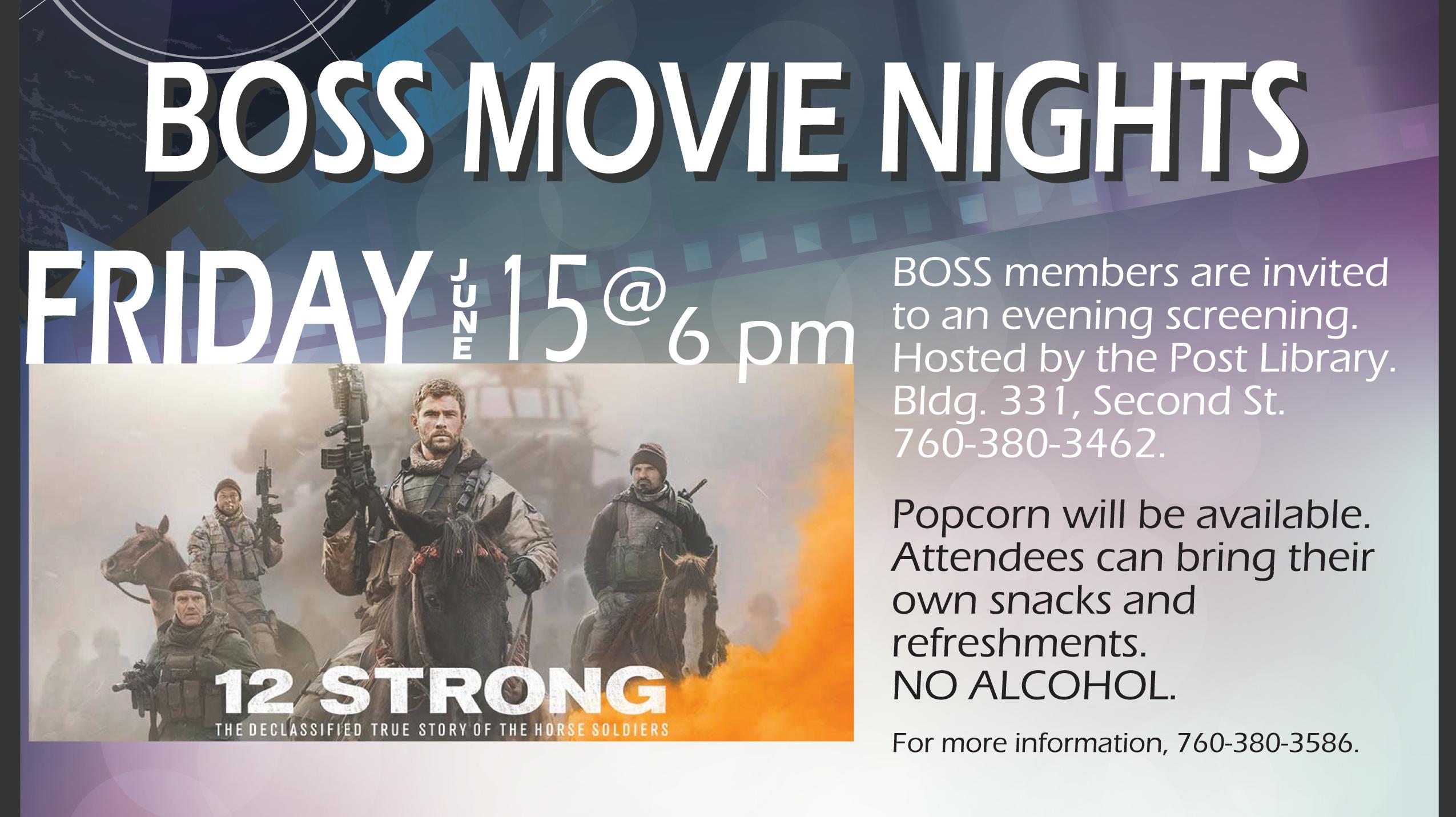 BOSS Movie Nights - 12 Strong